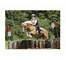 Haflinger Eventing Horse Art Print