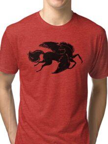 Black Pegasus Tri-blend T-Shirt