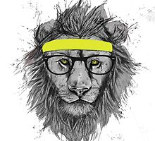Lion w/ Glasses and Headband by NicCaridi