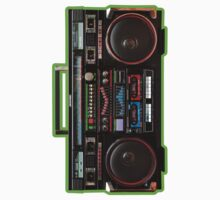 Giant Eighties Boombox One Piece - Short Sleeve