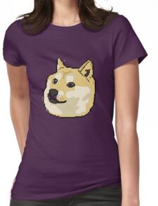 pixel shibe doge Womens Fitted T-Shirt