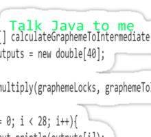 Talk Java to me Sticker