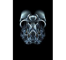 Blue Flame Skull Photographic Print