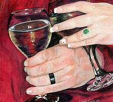 Wedding Hands by Linda Ginn Art