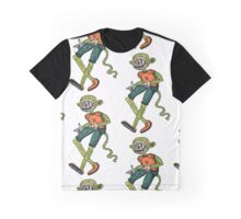 City hipster monkey green Graphic T-Shirt