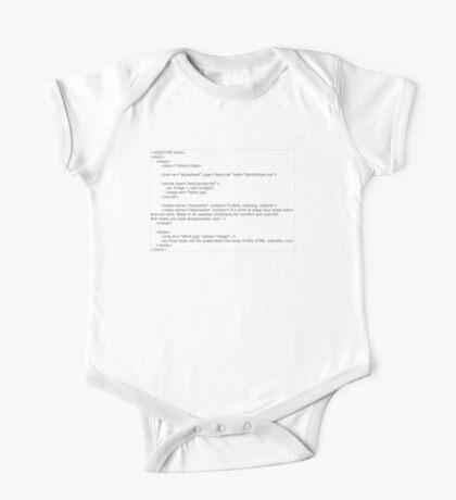 HTML T-Shirt One Piece - Short Sleeve