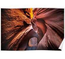 Slot canyon in the Vermillion Cliff area Poster
