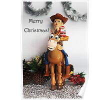 A Very Merry Woody And Bullseye Christmas Poster