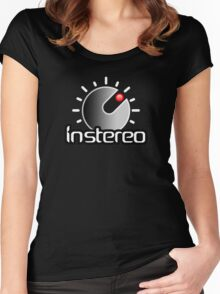 InStereo gradient centered Women's Fitted Scoop T-Shirt