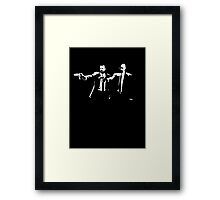 Breaking pulpy, bad fiction. Framed Print