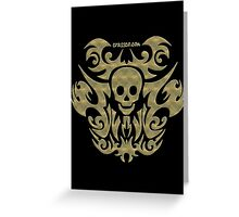 skull tattoo - mystical, humor, funny, underground Greeting Card