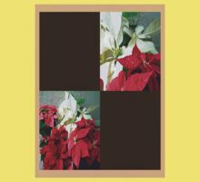 Mixed color Poinsettias 3 Blank Q3F0 Kids Tee