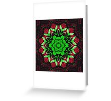 Christmas Roses Circle Greeting Card