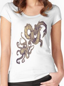 Sea Creatures of the Deep Women's Fitted Scoop T-Shirt
