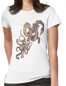Sea Creatures of the Deep Womens Fitted T-Shirt