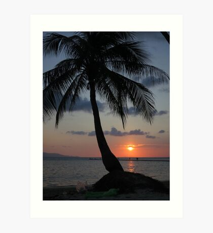 Thailand Sunset by the beach Art Print