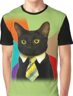 Business Cat Graphic T-Shirt