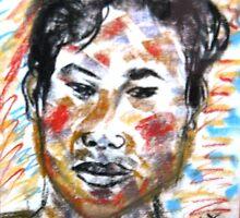 Young man by Christopher  Raggatt