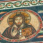 Christ on the centre top of nave mosaic San Appolinare in Classe Italy 198404150025  by Fred Mitchell
