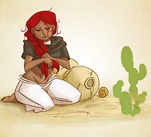 it's hot with all this hair in the desert by corteae