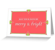 Merry Contemporary Christmas Greeting Card