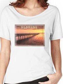 Sunset/sundusk over harbor Women's Relaxed Fit T-Shirt