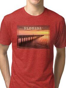 Sunset/sundusk over harbor Tri-blend T-Shirt