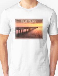 Sunset/sundusk over harbor Unisex T-Shirt