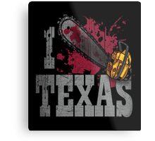 I Love Texas Metal Print