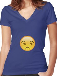 Unamused Women's Fitted V-Neck T-Shirt