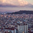 sunset over barcelona by AnnaGo
