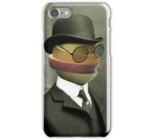 fruit face in a bowler iPhone Case/Skin