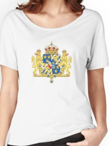 Greater Coat of Arms of Sweden Without Ermine Mantling  Women's Relaxed Fit T-Shirt