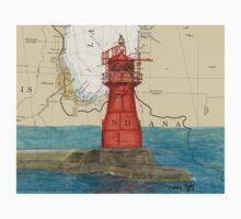 Gary Harbor Lighthouse IN Nautical Chart Cathy Peek Kids Tee