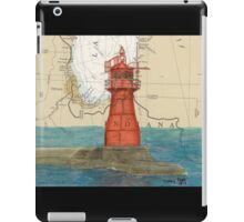 Gary Harbor Lighthouse IN Nautical Chart Cathy Peek iPad Case/Skin