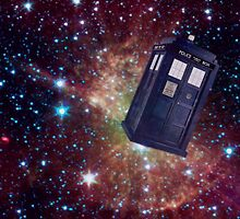 Tardis In Space by fuzzy-potato