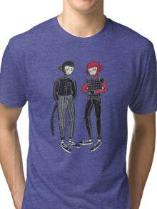 City hipster monkey Tri-blend T-Shirt