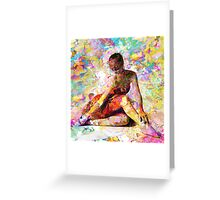 Ballerina in Repose by Mark Compton Greeting Card