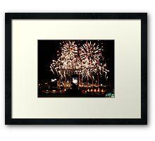Fireworks at Kauffman Stadium Framed Print