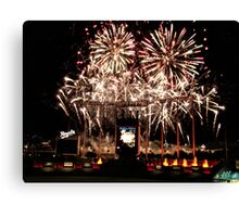 Fireworks at Kauffman Stadium Canvas Print