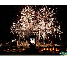 Fireworks at Kauffman Stadium Photographic Print