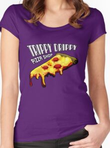 Trippy Drippy Pizza Shop Women's Fitted Scoop T-Shirt