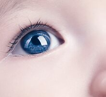 Closeup of a Baby's Blue Eye art photo print by ArtNudePhotos