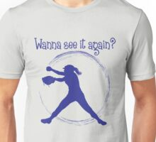 Wanna See It Again? blue Unisex T-Shirt