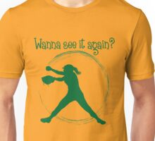 Wanna See It Again? green Unisex T-Shirt