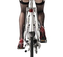 Sexy Woman Riding a Bike art photo print by ArtNudePhotos