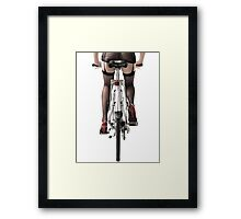 Sexy Woman Riding a Bike art photo print Framed Print