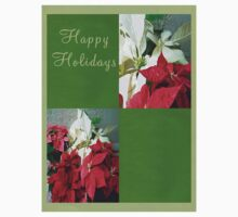 Mixed color Poinsettias 3 Happy Holidays Q5F1 Kids Clothes