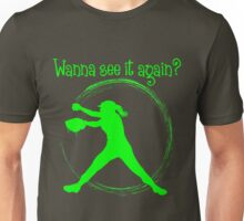 Wanna See It Again? neon green Unisex T-Shirt
