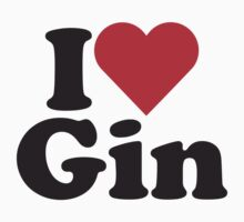 I Heart Love Gin Kids Clothes